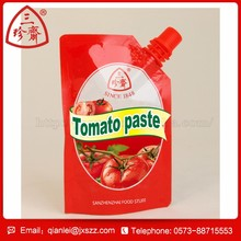 custom shape plastic bag tomato paste factory tube tomato ketchup
