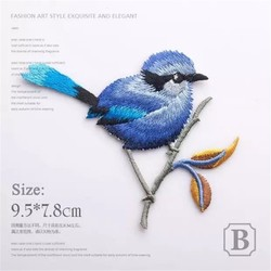 2017 Birds Patch Embroidery Iron On Patches For Clothes Dresses DIY Accessory