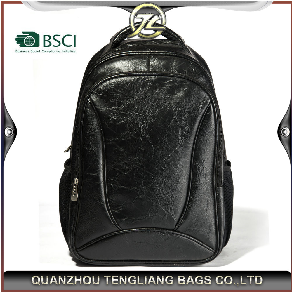Customized 2016 portable leather laptop backpack