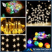 2016 Popular Outdoor and Indoor decor led Solar string lights factory direct Wholesale red green