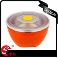 stainless steel mixing bowl/ salad bowl /food storage box with platic lid