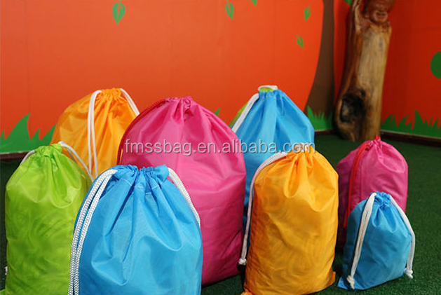 wholesale colorful small travel nylon drawstring pouch bags
