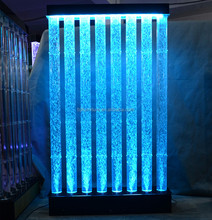 restaurant lighting decoration water screen acrylic bubble wall waterfall