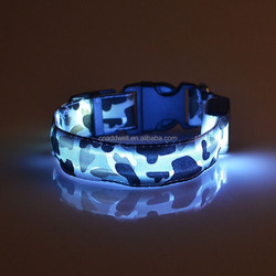 camouflage LED flashing dog collar with LED light