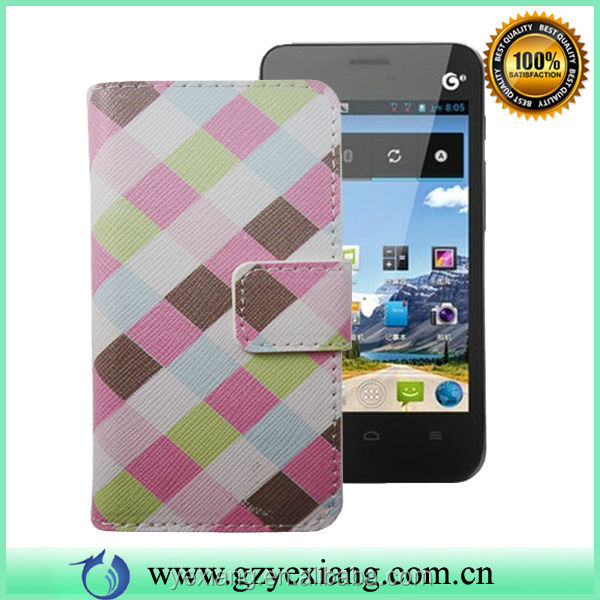 Customer Designer Leather Flip Case For Huawei Ascend Y320 Back Cover