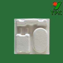 custom molded bamboo or paper pulp razor blade packaging insert tray
