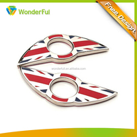 OEM Accepted Fashion Abs Car Emblems Custom Wings UK National Flag Printing Custom Logo