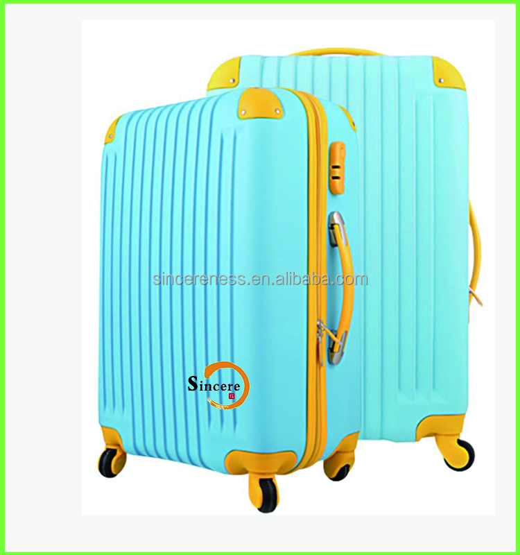 luggage trolley bag suitcase with rotating wheels for travel