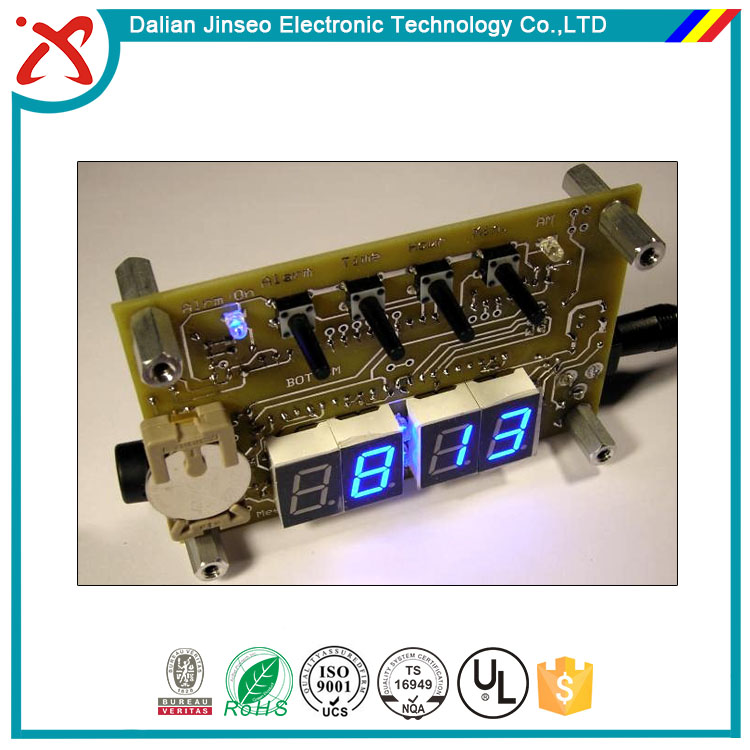 LED memo digital recordable message pcb board clock