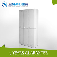 CC-B3T 3 door metal wardrobe colorful combination cold-rolled steel wardrobe for bedroom