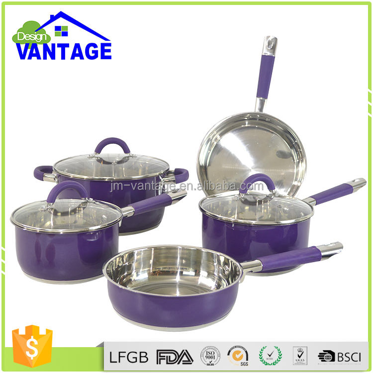 trade company for kitchen ware cookware soup stock pot,steel cook pots set and pans,decoration cookware sets