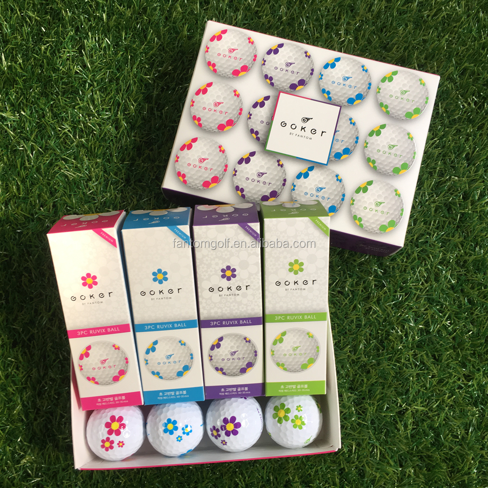 Daisy Golf Ball Multi Mark, 3 Layers Golf Ball Wholesale by Fantom