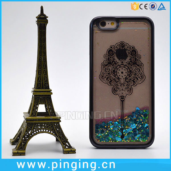 Hot Selling Electroplate Laser Carving TPU Liquid Quicksand Case For Digicel <strong>DL</strong> 1