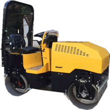 double drum good cornering performance riding road roller