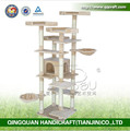 QQPET BSCI Factory Extra Large Cat Tower with Two Hammocks Cat Tree Furniture