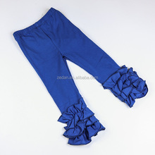 Wholesale Pants Blank Royal Blue Baby Icing Pants Ruffle Girl Leggings