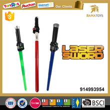 Retractable sword toy led light saber with light and sound