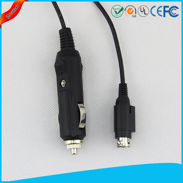 Car Cigarette Lighter Power Cable Charger Adapter 4-pin mini-DIN cable