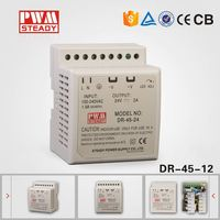 DR-45-12 plastic case din rail led driver 45w 12v 15v 3.5a 2.8a switch power supply