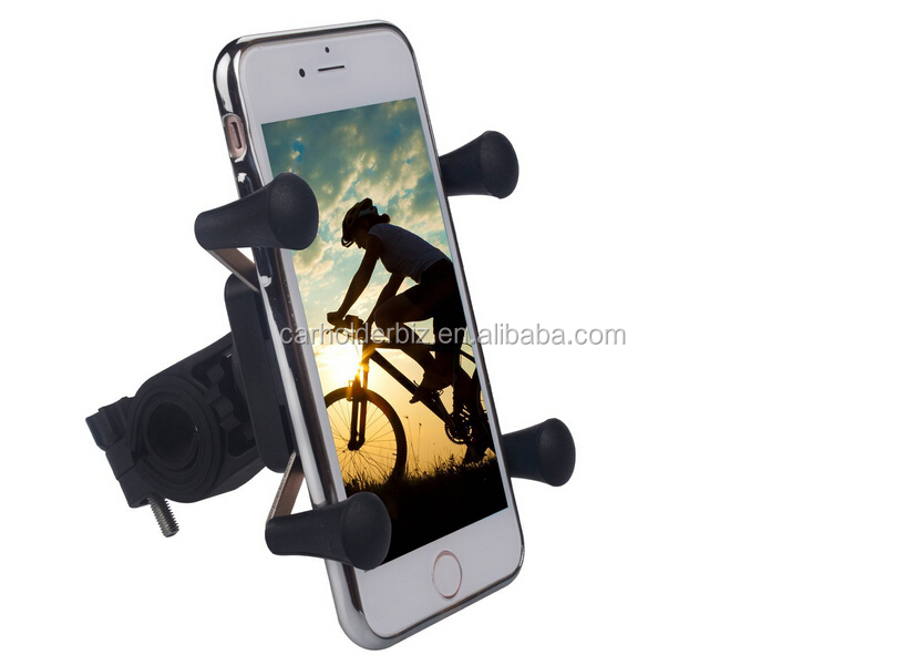 2016 Newest Gadget Motorcycle GPS Holder Rubber Band Handlebar Mount For iPhone 7