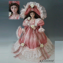 Promotion 22inches Ceramic Victoria Princess Doll ceramic porcelain doll faces