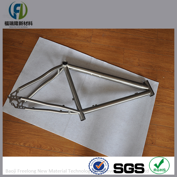 Hand-crafted Titanium mountain bicycle frame for sale