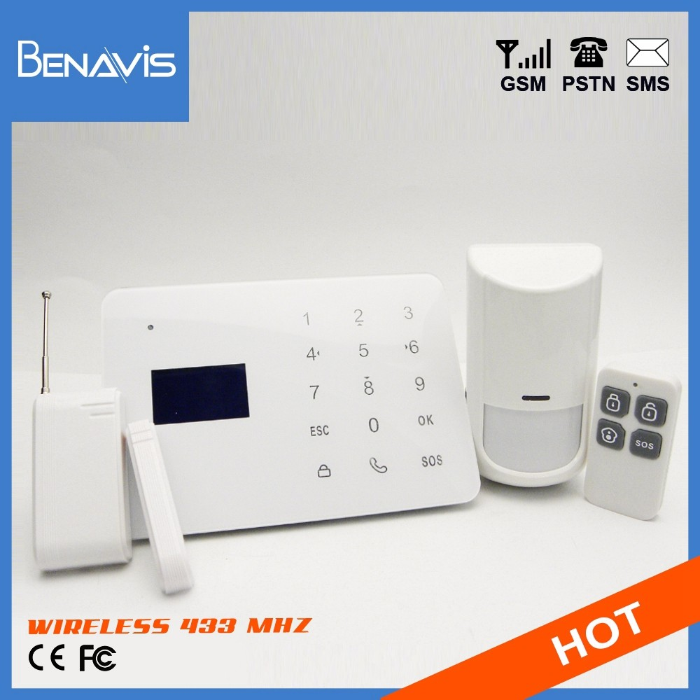 Best Brand CE Certification Support custom logo wireless 433 mhz security system