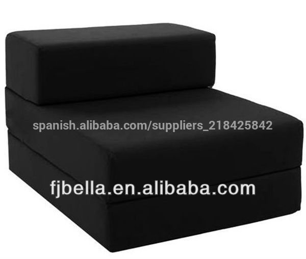 De algod n individual plegable silla sof cama de for Sofa cama individual plegable