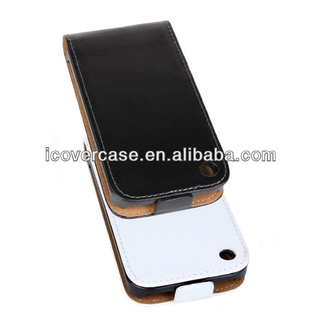 2014 New Arrival Korean Style Genuine Leather Case For iPhone 3G 3GS Vertical Flip Case Cover