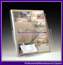 Acrylic Brochure Stand, Countertop Promptional Leaflet Holder