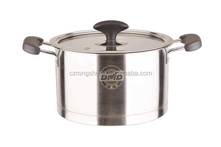 22cm Stainless steel cooking pot soup pot