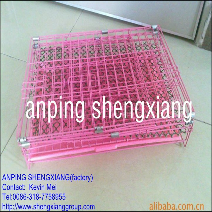 electro galvanized or pvc coated Foldaway Pet Cage Eco-Friendly (factory)ISO14001