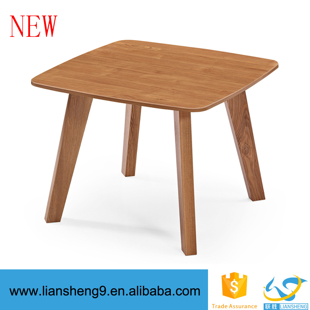 Latest design wooden coffee table modern small meeting table office discussion table