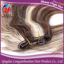 Factory Wholesale 100% Unprocessed Human Hair Cuticle Remy Chinese Virgin Piano Color Super Charming Hair Weaving