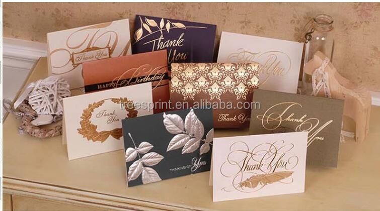 Gold/Silver Foil Birthday Greeting Card Handmade Decoration Greeting Card