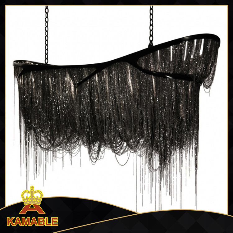 Luxury hotel project decorative black big chandelier