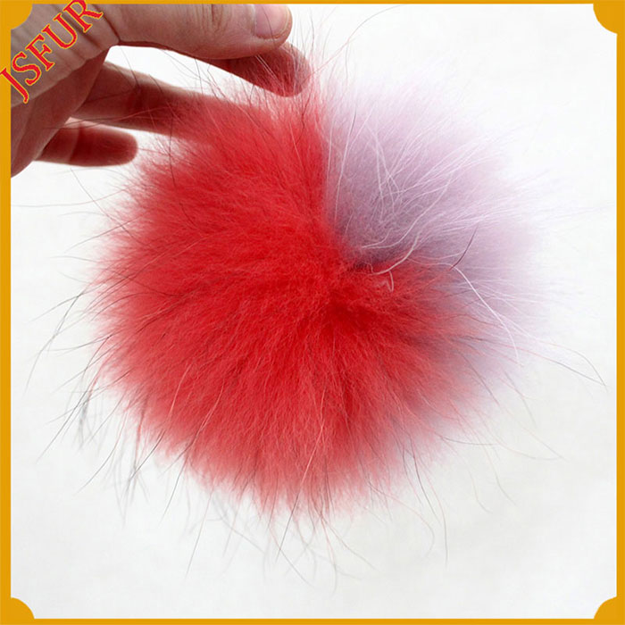 Raccoon Fur So Cute Accessory Pompom Keychain Fur Pom Pom Ball