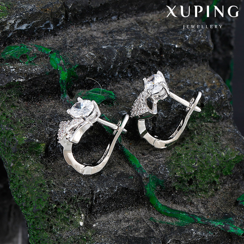 92411 XUPING fashion latest white gold color earring models designs,charm earring