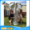 Stainless steel palm tree sculpture