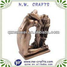Brass sexy lady figurine
