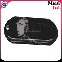 China supplier custom colorful printed aluminum dog tags with epoxy coated