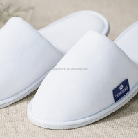 Washable White Cheap Hotel Slippers For Guests