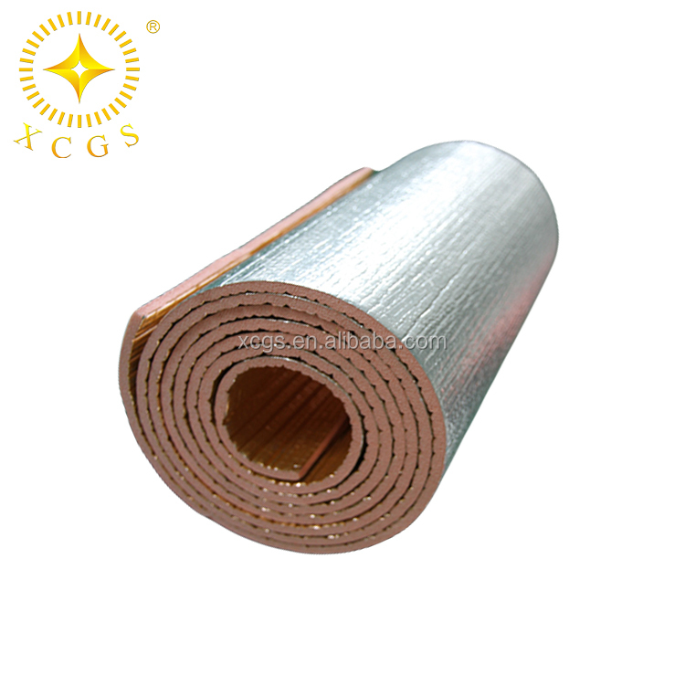 XPE Rubber Insulation Foam Sheet With High R Value XPE Foam Aluminum Foil High Building ventilation HAVCR insulation