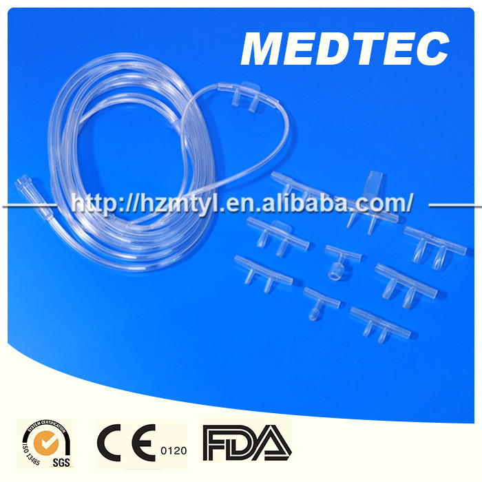 CE&ISO approved Medical oxygen cannula airway tubes/nasal oxygen cannula