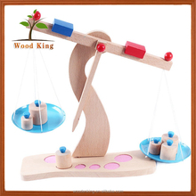 German Wood Beech Wooden Weighing Scales Balance Game Children Early Education Wisdom Toys Small Child Kid Toy
