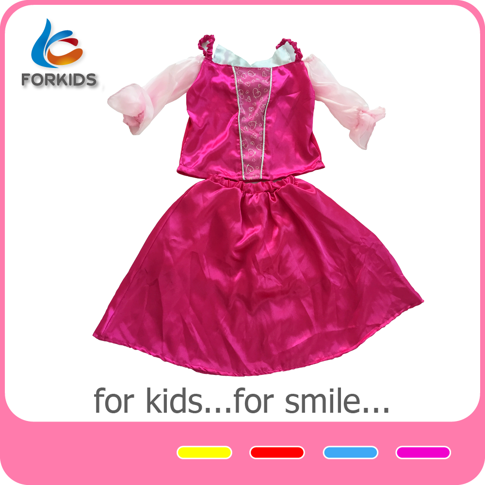 New design korean kids lace pink pettidress baby girl birthday dresses, kids party wear dresses with Crown plastic accessories