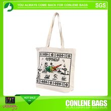embroidered printing wholesale city name canvas tote bag