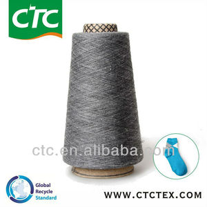 cotton poly melange yarn for sock knitting china 100%
