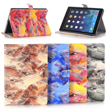 Colorful PU Leather Back Case for ipad 9.7 2017 , for Apple ipad smart cover
