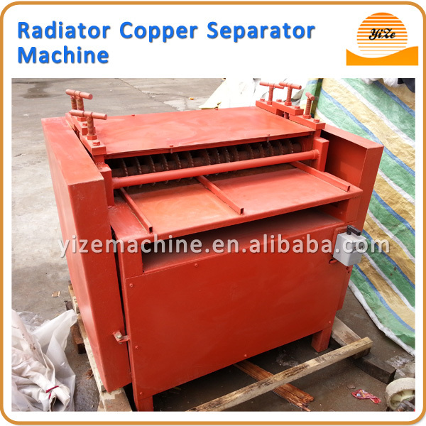 Radiator copper pipe crusher recycling machine / radiator separator machine